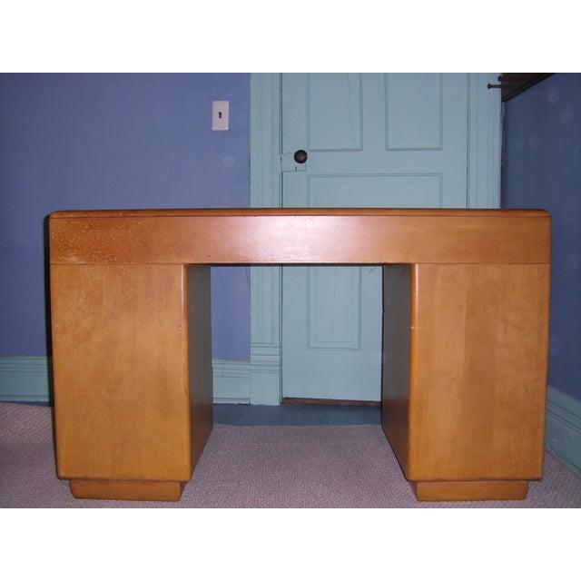 Heywood Wakefield Keyhole Desk & Chair - Image 6 of 11