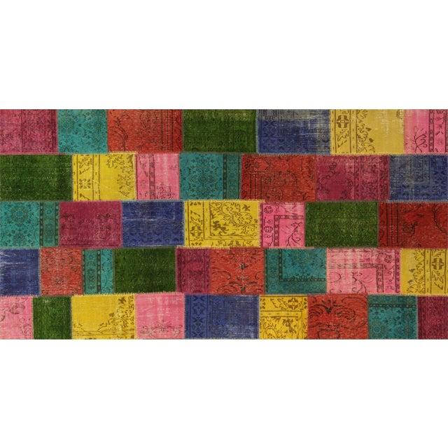 "Image of Apadana - Patchwork Overdye Rug - 6'3"" x 12'"
