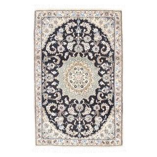 Fine Persian Nain Silk & Wool Rug - 3' X 5'