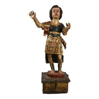 San Miguel Bulto Dressed as Mexican Patron - Mexico, circa 1750
