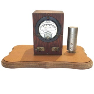 Weston Thermo Galvanometer Sculpture Circa 1922 With Electric Thermocouple. Mounted On Wood.