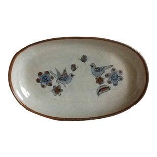 1970's Mid-Century Artisan Pottery Tray