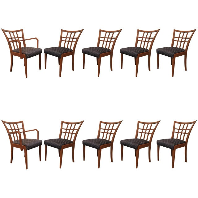 Paul Frankl Dining Chair - Set of 10 - Image 1 of 5