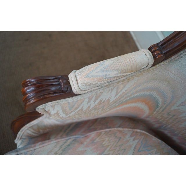 Large 1920s French Louis XV Style Bergere Chair - Image 10 of 10