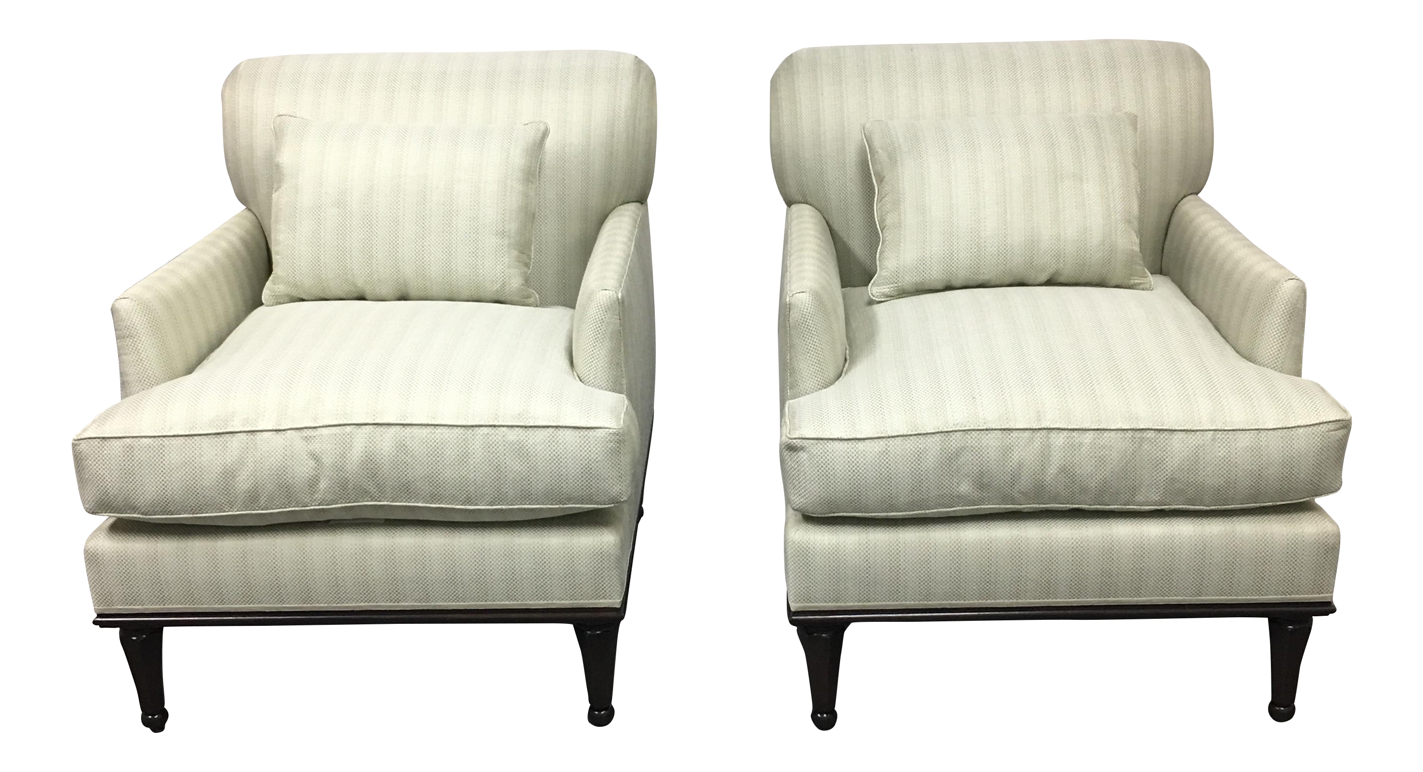 New Fitzgerald Of San Francisco Custom Armchairs   A Pair