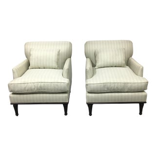 New Fitzgerald of San Francisco Custom Armchairs - a Pair
