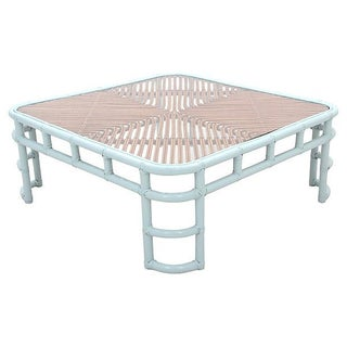 Ice Blue Bamboo Cocktail Table