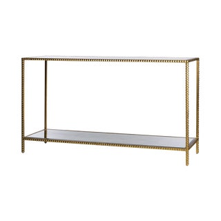 Emporium Home Studded Gold Leaf Console Table