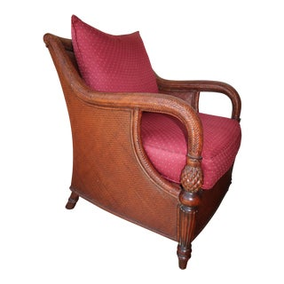 Palm Grove Wooden Cane Armchair by Ethan Allen