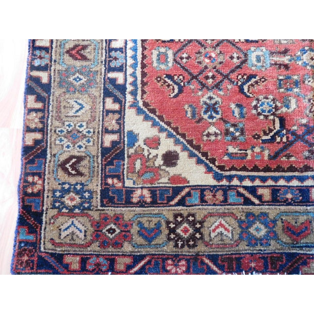 Old Persian Hamadan Rug - 3′7″ × 5′ - Image 4 of 7