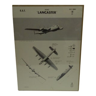 "Vintage WWII Aircraft ""Lancaster"" Recognition Poster"