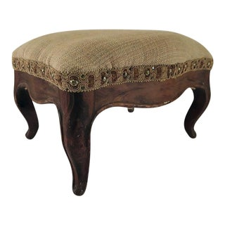 Antique Victorian French Foot Stool