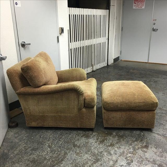 J.F. Fitzgerald Tweed Chair & Ottoman - Image 4 of 6