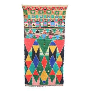 "Vintage Azilal Moroccan Berber Rug - 3'5"" X 6'11"""