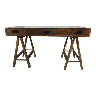 Campaign Style Inlaid Desk