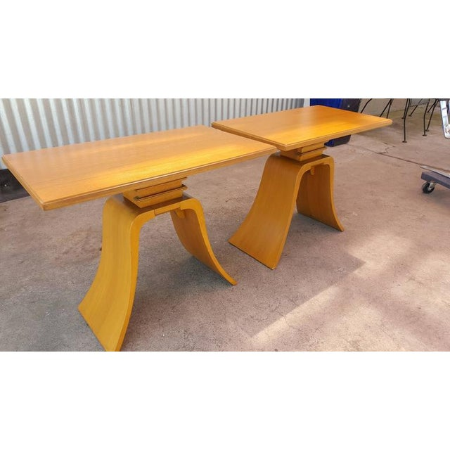 """Paul Frankl """"Bell"""" End Tables - Image 4 of 8"""
