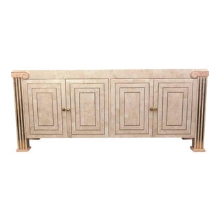 Maitland-Smith Tessellated Marble Console