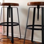 Image of West Elm Adjustable Bar Stools - A Pair