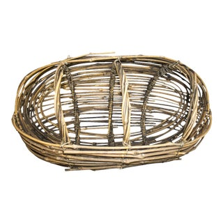 Country Woven Twig Basket