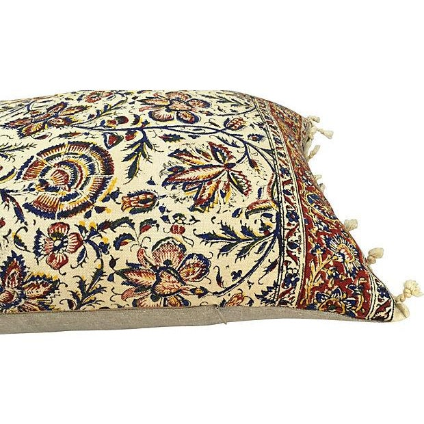 Hand-Blocked Indian Fringed Body Pillow - Image 5 of 5