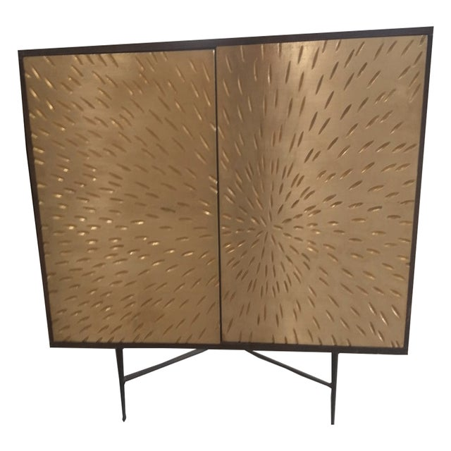 Contemporary Wooden Metal Living Room Cornell Chest Cabinet - Image 2 of 10
