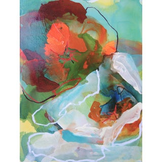 """""""Water Flowers 2"""" Original Mixed Media Composition"""