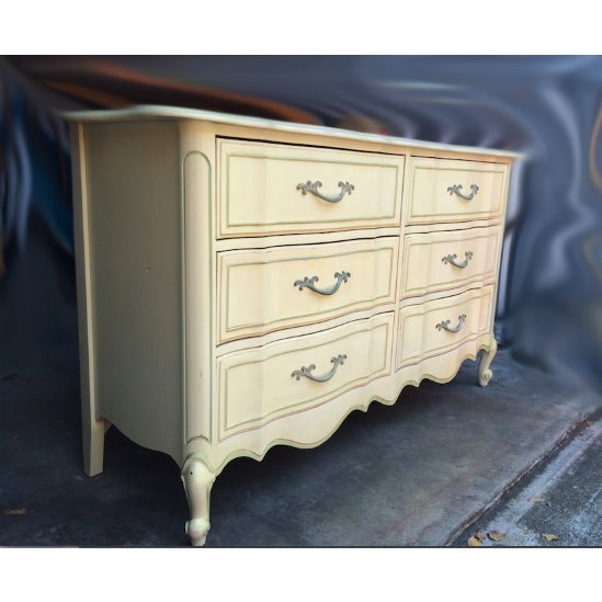 Image of French Ivory Provincial Dresser
