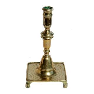 17th Century Spanish Brass Candlestick