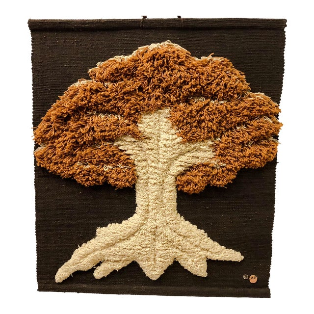 Don Freedman Macrame Wall Hanging of a Tree - Image 1 of 6