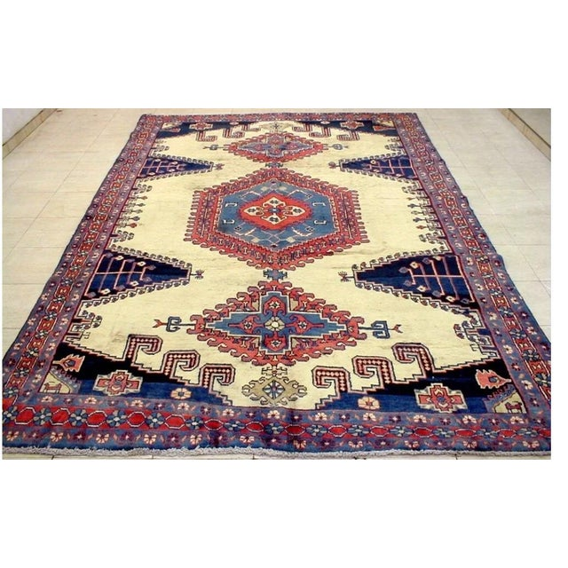 Antique Hand Knotted Persian Rug - 10 X 7 - Image 11 of 11