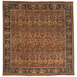 "Antique English Oushak Carpet - 14' x 13'7"""