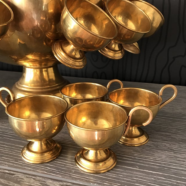 Brass Punchbowl Set - 26 Piece - Image 6 of 11