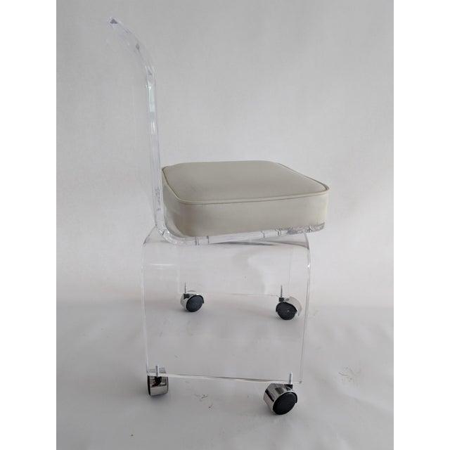 Lucite Vanity Swivel Stool / Chair - Image 3 of 8
