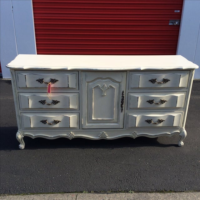 French Provincal Buffet Dresser - Image 8 of 8