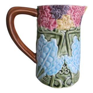 Majolica Ceramic Pitcher