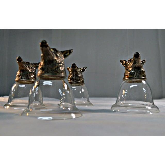 Wolf Head Stirrup Goblets - Set of 5 - Image 5 of 10