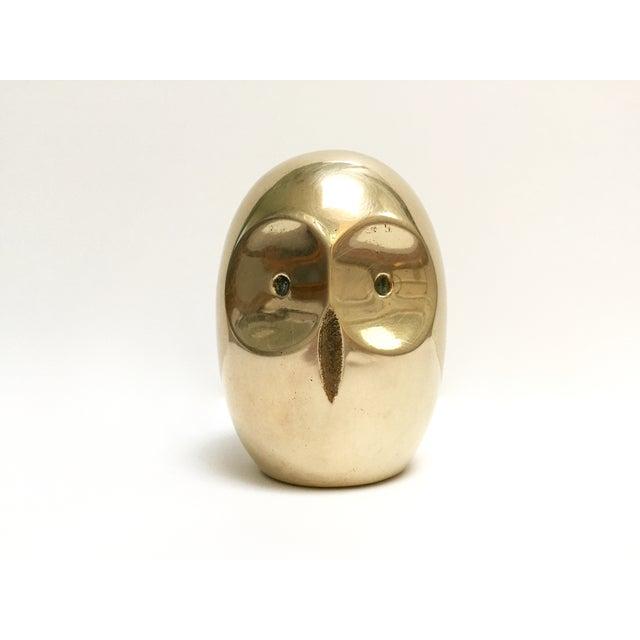 Vintage Modern Brass Owl Figure - Image 2 of 6