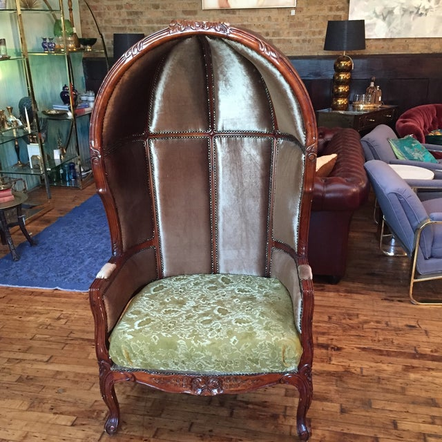 Image of Vintage Hooded Porter Chair