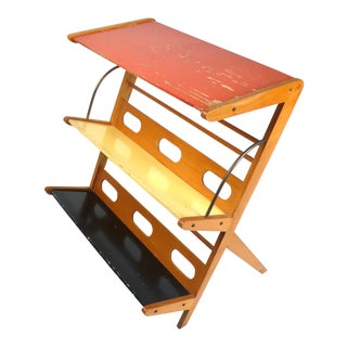Rare 1950s Magazine Rack or Newspaper Holder