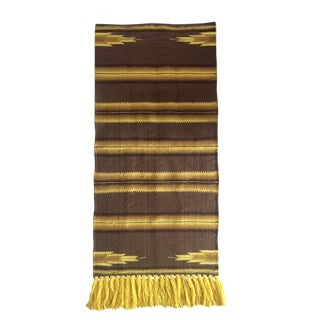 "Vintage Handwoven Horse Blanket Rug - 2'3"" X 5'7"""