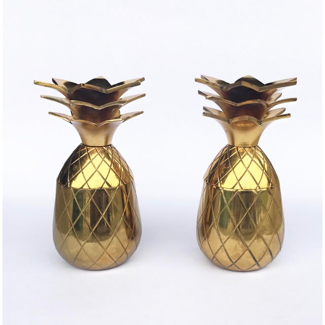 The Pineapple Co. Brass Shot Glasses - A Pair - Image 2 of 6