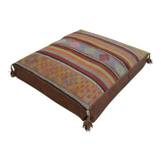 Turkish Hand Woven Floor Cushion Cover