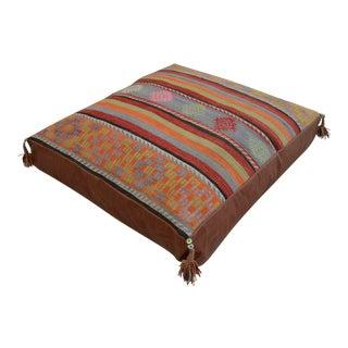 Turkish Hand Woven Floor Cushion Cover 35″ X 37″