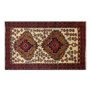 """Traditional Persian Balouch Wool Area Rug - 3' 7"""" X 6' 3"""""""