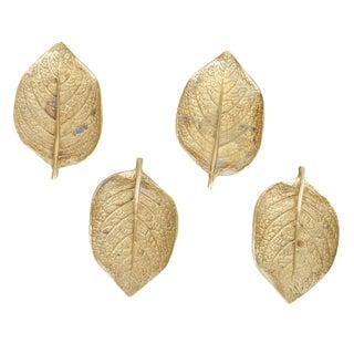 Vintage Brass Episcea Leaves - Set of 4