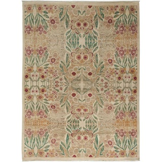 "Suzani Hand Knotted Area Rug - 6' 1"" X 8' 1"""