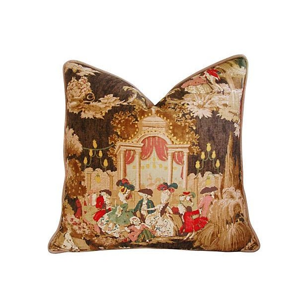 Designer French Versailles Toile Pillows - Pair - Image 2 of 7