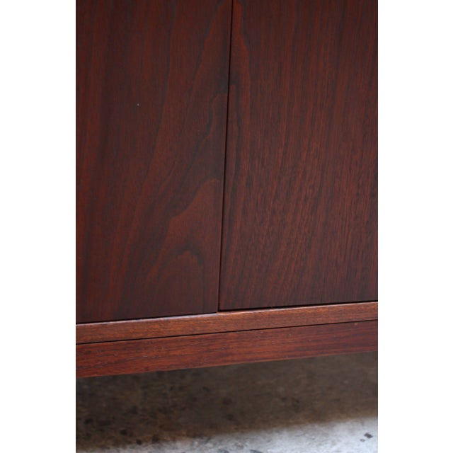 Midcentury Walnut and Brass Gentleman's Chest after Paul McCobb - Image 8 of 9