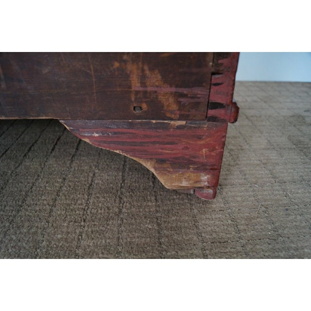 Image of 19th Century Dovetailed Red Painted Blanket Chest
