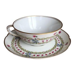 L. Bernardaud & Co. Porcelain Tea Cups & Saucers - 24 Pieces